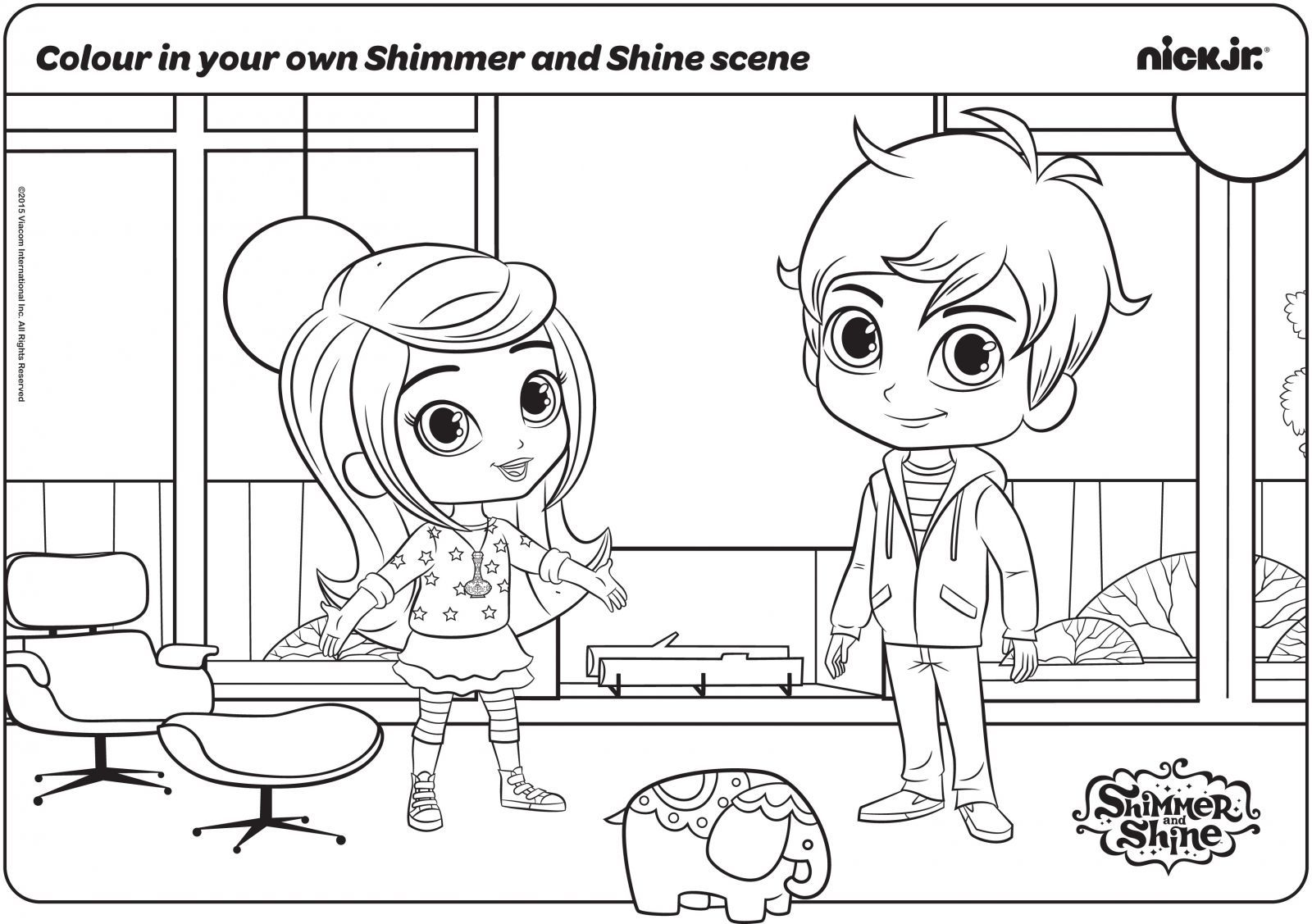 30 Magical Shimmer And Shine Coloring Pages   Coloring ...