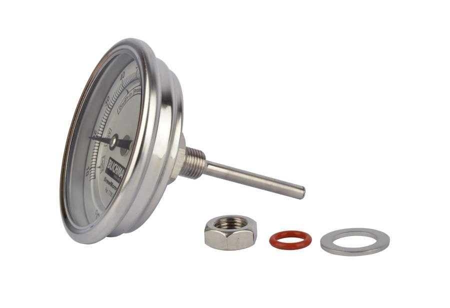 "Blichmann BrewMometer 3/"" Adjustable Brew Kettle Mash Tun Dial Thermometer"