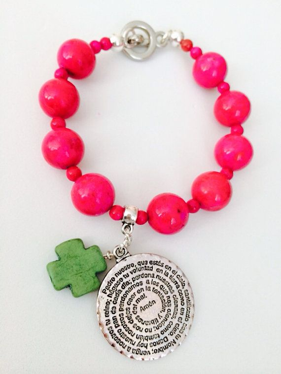 Padre Nuestro (holy Father) (spanish) charm bracelet on Etsy, $18.00