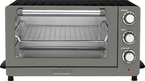 Cuisinart Convection Toaster Pizza Oven Black Stainless With Images Toaster Oven Convection Toaster Oven Cuisinart Toaster Oven