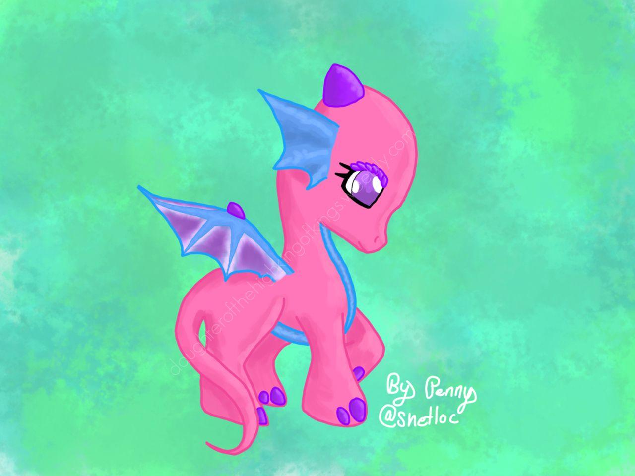 A MLP dragon! Drawn by Penny @snetloc