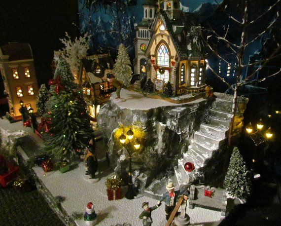 Christmas Village Display Mountain Overlook Platform Base Etsy