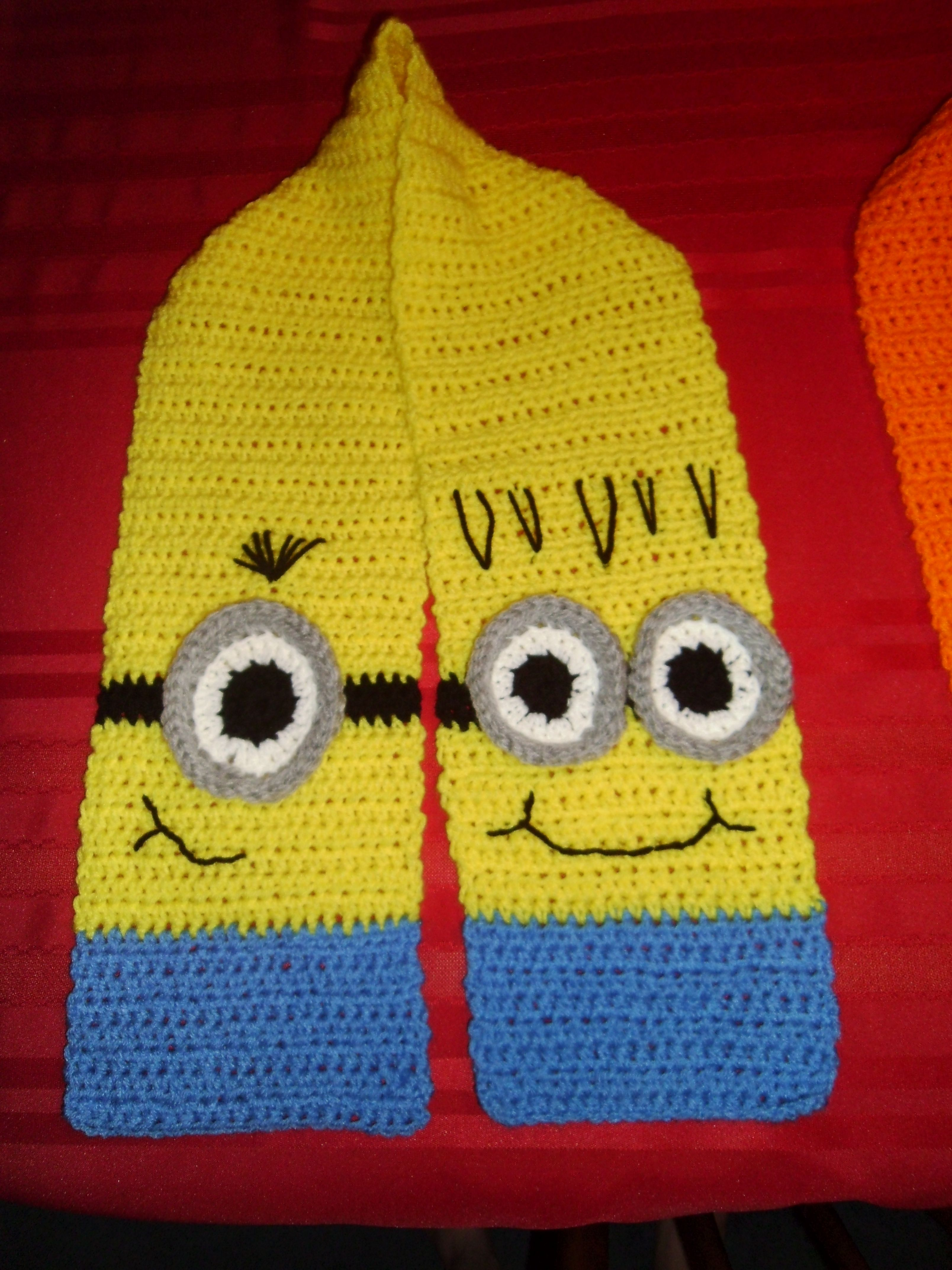 Crocheted Minion Scarf | Projects Made | Pinterest | Kind