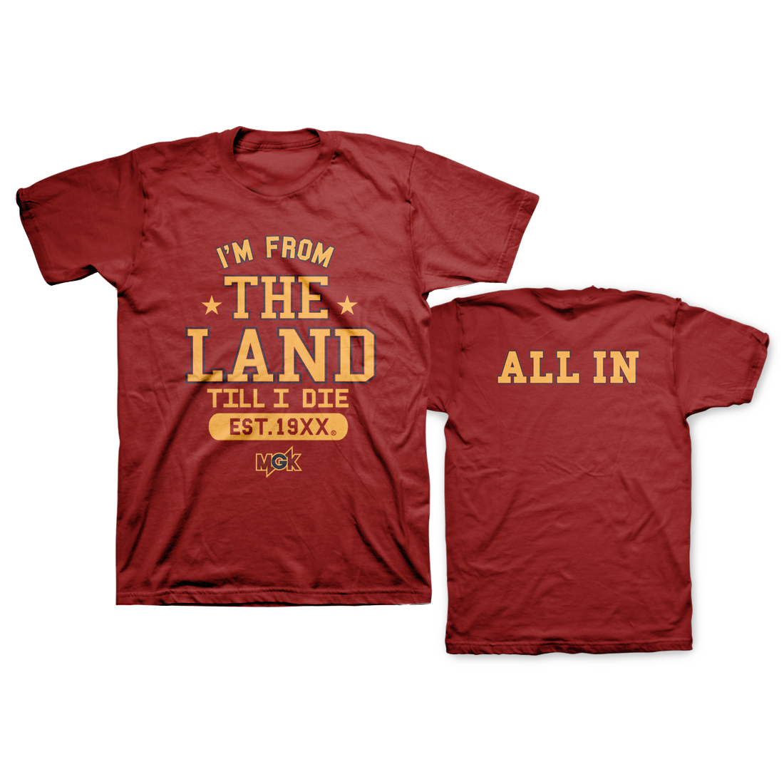 The Land All In T-Shirt – Machine Gun Kelly Shop | Shop MGK ...