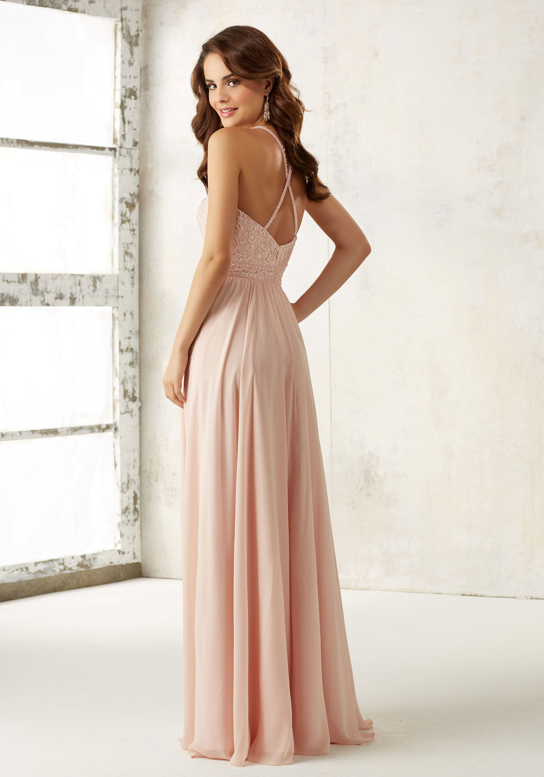 0440b97902a Morilee by Madeline Gardner Bridesmaids Style 21512 | Elaborate Embroidery  and Beading Accents the Bodice of This Beautiful Chiffon Bridesmaids Dress.