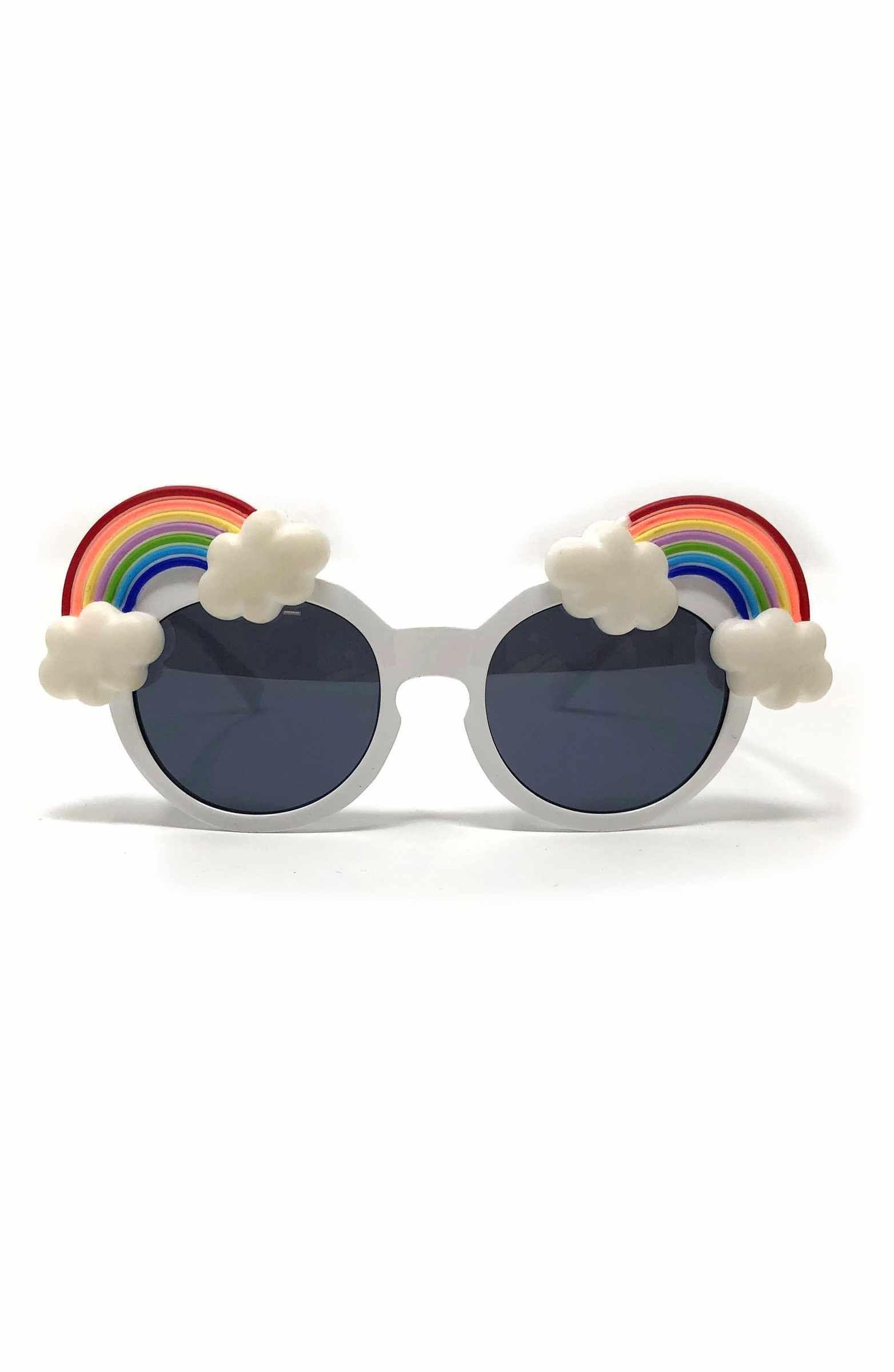 Main Image Loose Leaf Eyewear Small Round Rainbow Sunglasses Babiators True Blue Classic Ages 3 7 Toddler