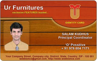ID Card Templates Furniture IDCard By Webbience Coimbatore - Card template free: employee id card template
