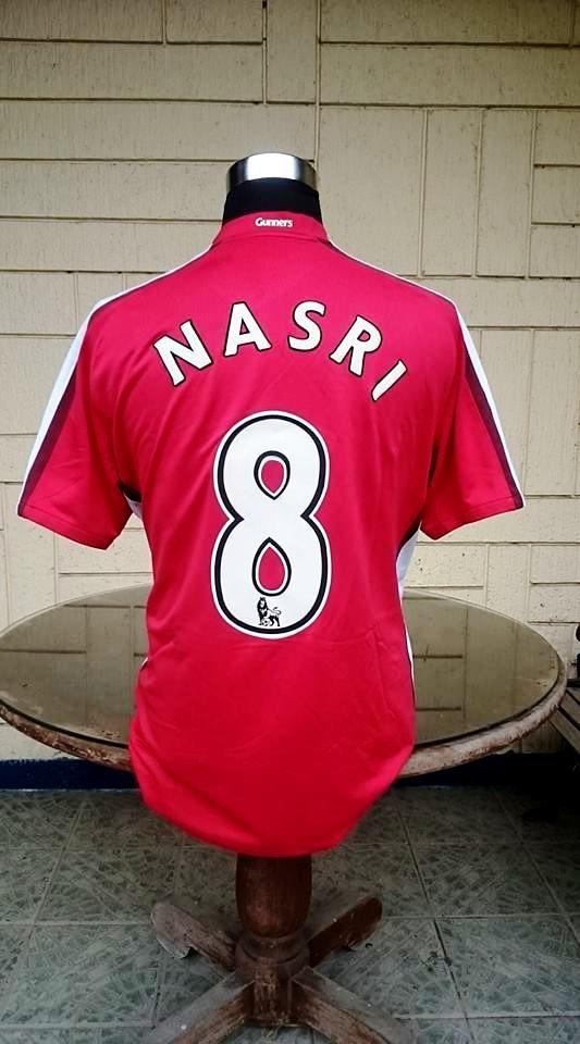 daf30416957 ARSENAL FC 2008-2009 SAMIR NASRI 8 JERSEY NIKE SHIRT