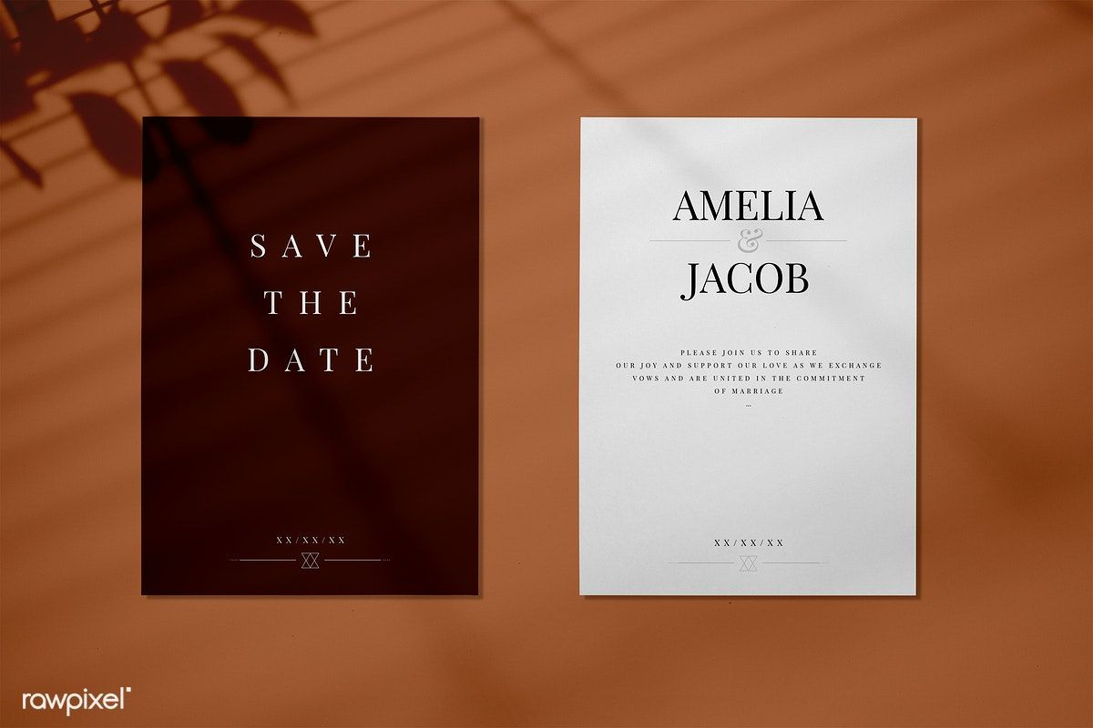 Download Premium Psd Of Save The Date Wedding Invitation Card Mockup 556059 Wedding Invitation Cards Wedding Invitation Card Design Wedding Invitation Card Template