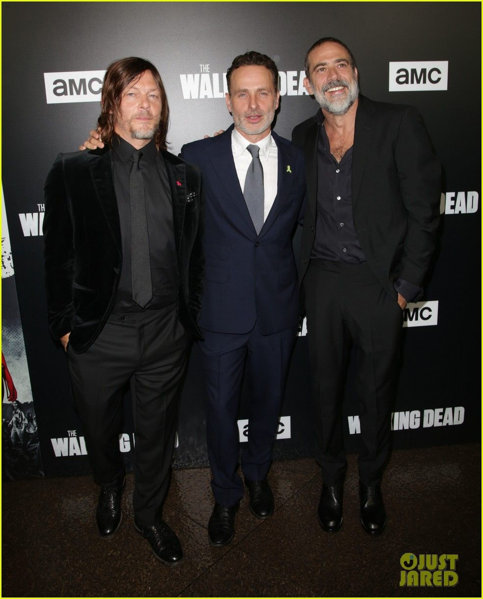 Andrew Lincoln Danai Gurira Walking Dead Stars Attend Season 9 Screening The Walking Dead The Walking Dead Poster Walking Dead Season