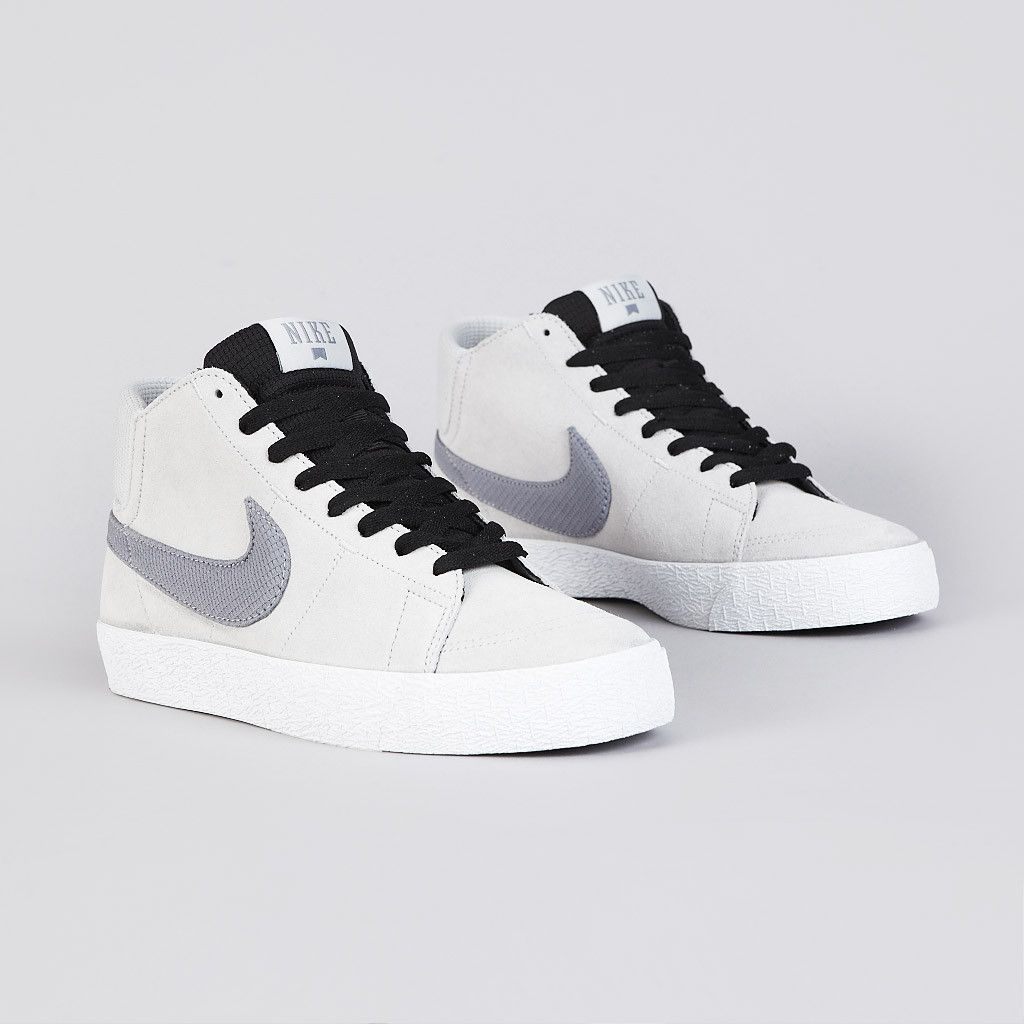 separation shoes 315e9 748ff Nike Sb Blazer Mid LR Strata Grey  Metallic Cool Grey