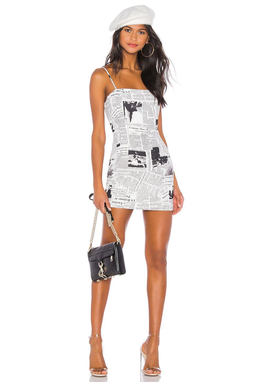 Superdown Letizia Printed Mini Dress In Black White Revolve Mini Dress Printed Mini Dress Fashion Clothes Women [ 1450 x 960 Pixel ]