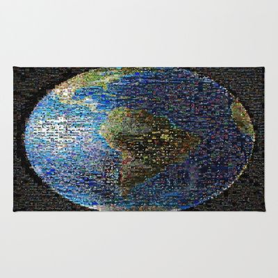 Earth Wave Collage Global Face Area & Throw Rug by 2sweet4words Designs - $28.00