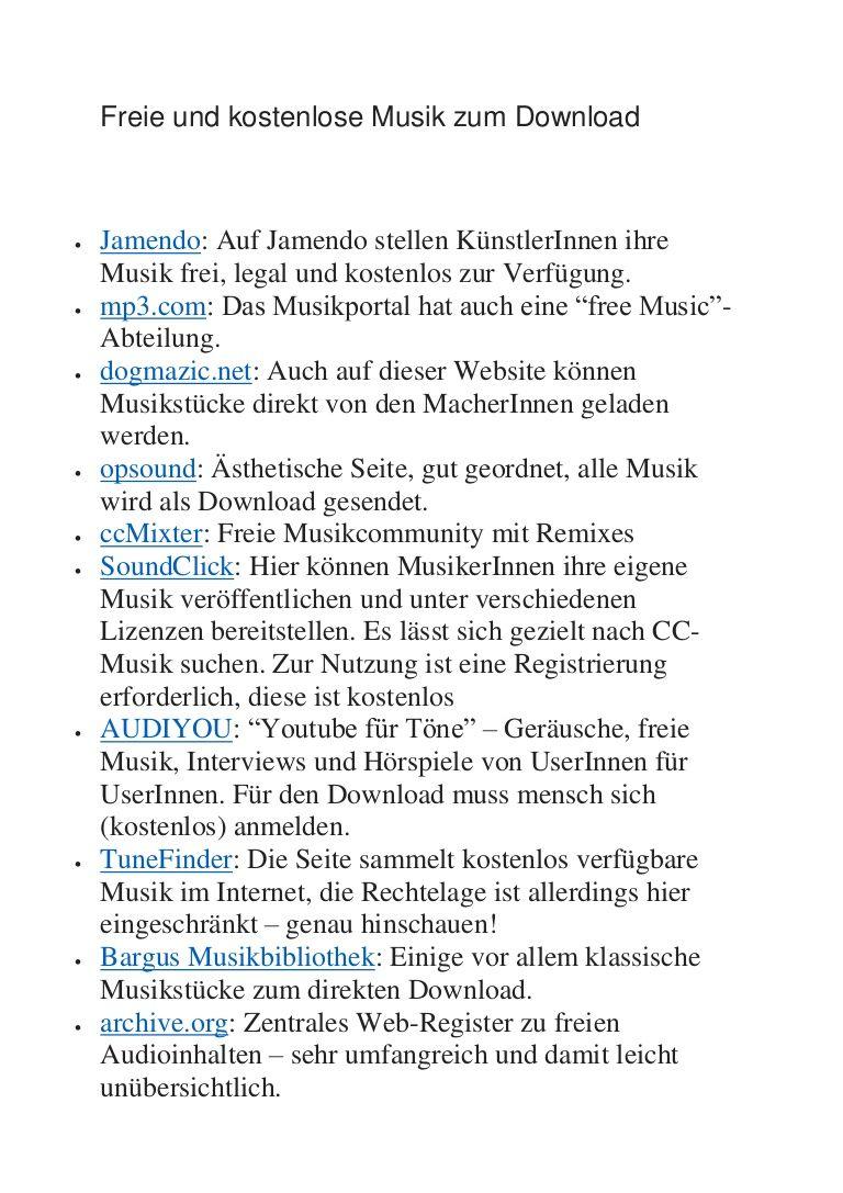 Freie und kostenlose Musik zum Download  Jamendo: Auf Jamendo ...