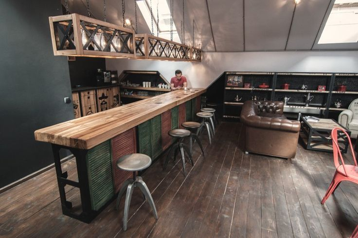 Bar countertops industrial google search r5 brewpub for Countertop coffee bar ideas
