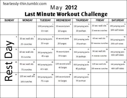 And This Is My Final Workout For The Month Of May May Last Minute Workout Challenge Come Health Fitness Motivation Month Workout Challenge Workout Challenge