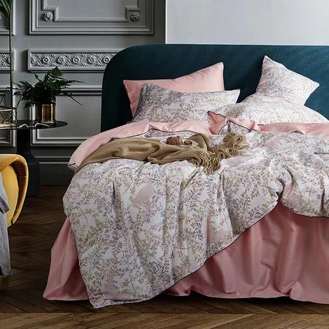 Svetanya Nordic Pastoral Floral Leaves Duvet Cover Set Luxury Egyptian Cotton Bed Linens Queen Size Bedding Set Fitted Sheet Duvet Cover Sets Duvet Covers Cotton Bed Linen