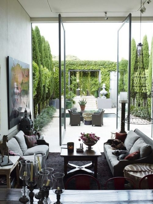 ♡ Interior Design: In- & Outside in one room | home&more | Pinterest