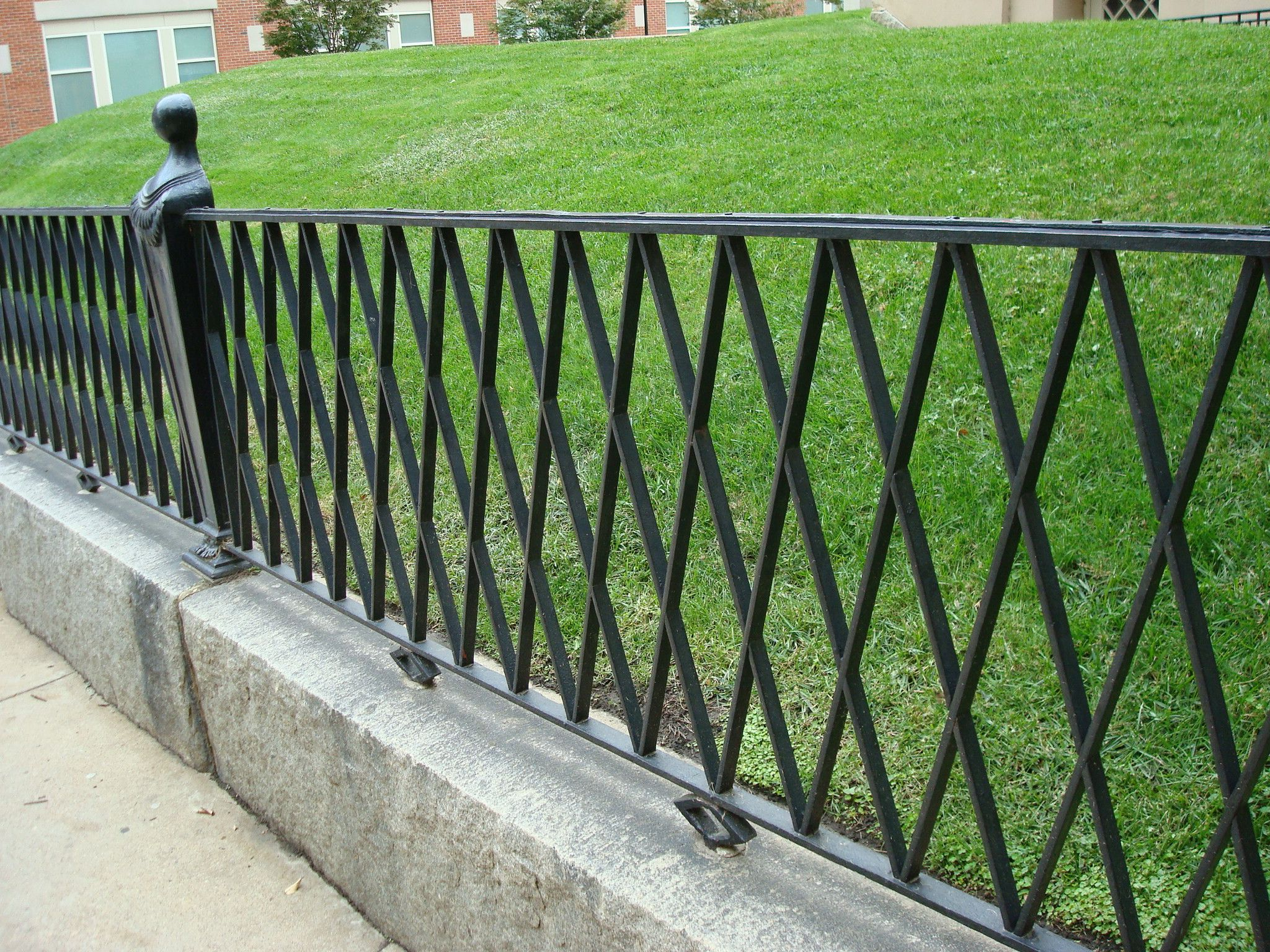 black wrought iron fence ideas  Dohoe.com  Metal garden fencing