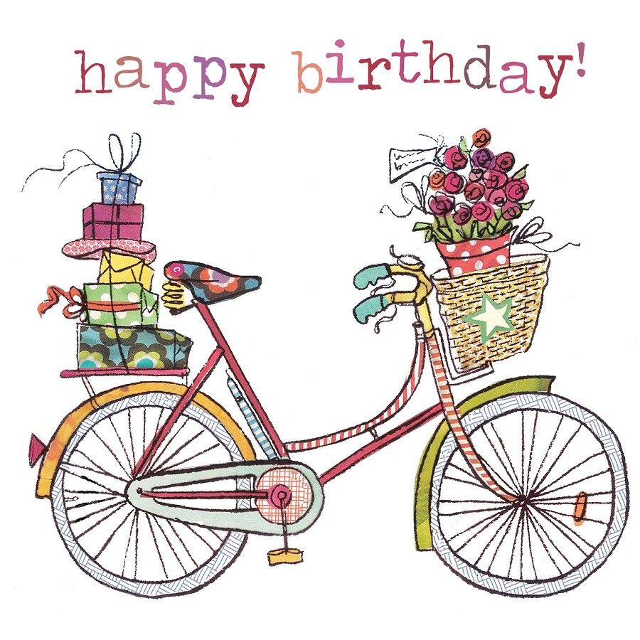 illustrazione bicycle happy birthday referencias pinterest bicycles happy birthday. Black Bedroom Furniture Sets. Home Design Ideas