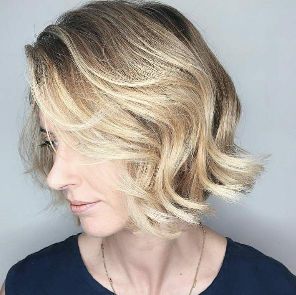 Soft blonde balayage by Chris Weber