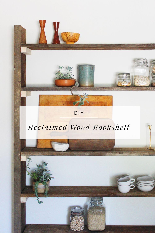 Diy reclaimed wood bookshelf wood bookshelves woods and for Reclaimed wood bookcase diy