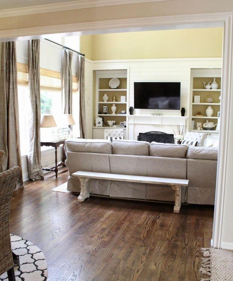 Konsolentisch hinter Sofa stellen - 51 Einrichtungsideen ...