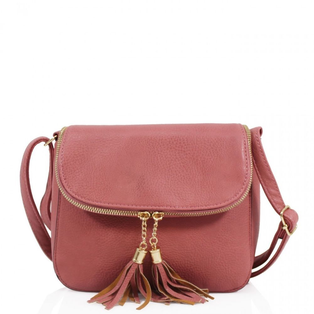 87aaa33d9c805 2027 Ladies Girls Small Round Twin Zip Tassel Bags Women Mini Cross Body  Bags