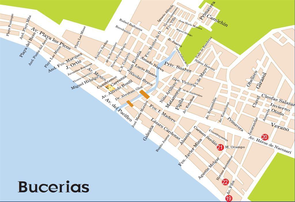 bucerias nayarit mexico  Best of Bucerias  Maps  Fernandos