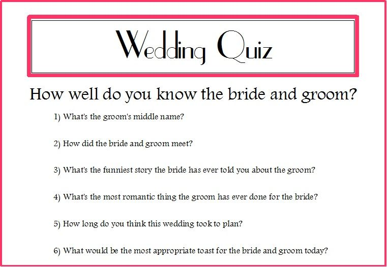 Wedding Quizzes For Guests Google Search Wedding Quiz How To Memorize Things Romantic Things