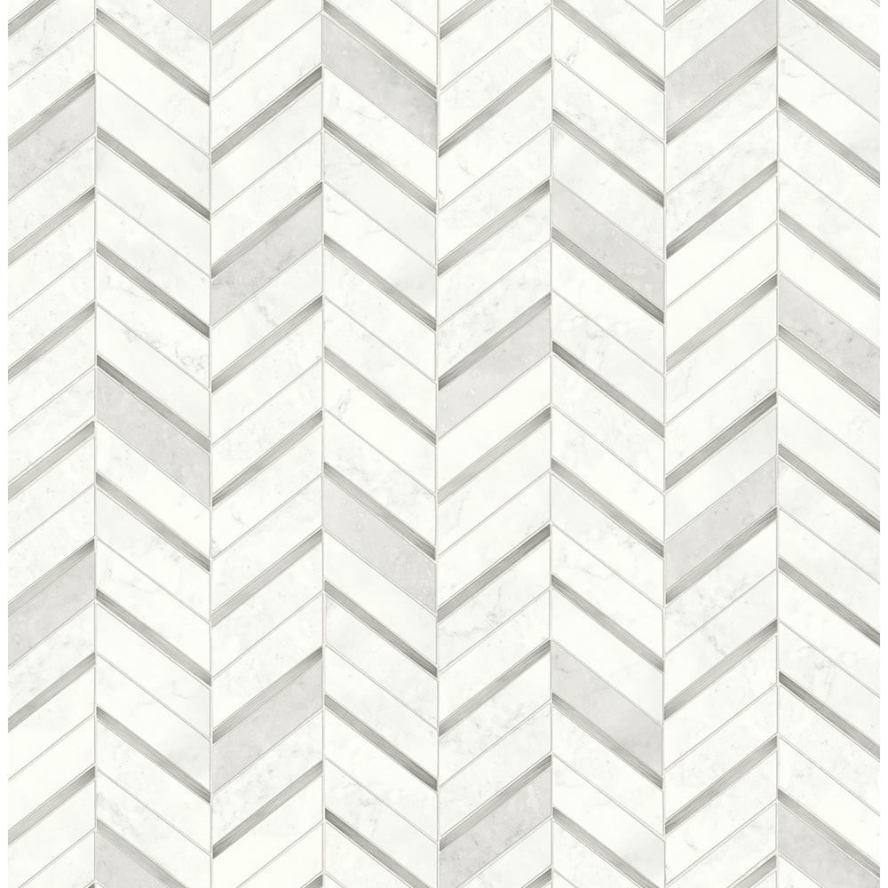 Nextwall Faux Marble Tile Chevron Herringbone Vinyl Peel Stick Wallpaper Roll Covers 30 75 Sq Ft Nw39208 The Home Depot Peel And Stick Wallpaper Marble Tile Herringbone Wallpaper