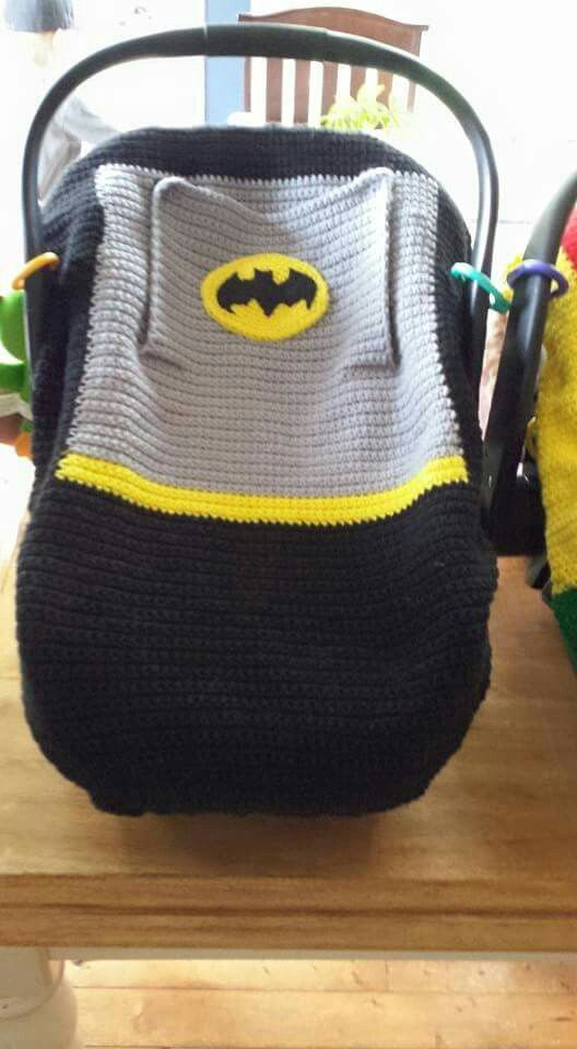 Batman car seat cover | Crochet Patterns | Pinterest | Manta, Tejido ...