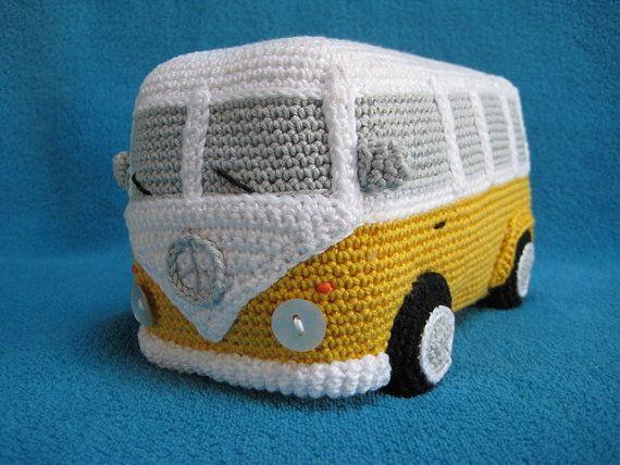 Amigurumi Patterns Cars : Amigurumi vw camper van bus volkswagen inspired car pdf crochet