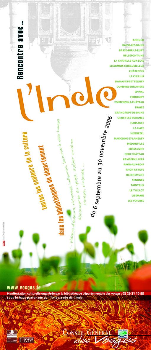 RENCONTRE avec... l'INDE Médiathèque Départementale Création Laurence Fresse/Studio Toucan-Toucan