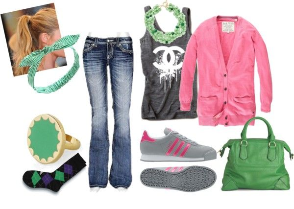 """""""pink and green"""" by amy-brown-1 on Polyvore"""