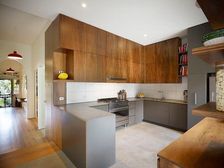 Cocina de madera en u | cocinas | Pinterest | Open concept kitchen ...
