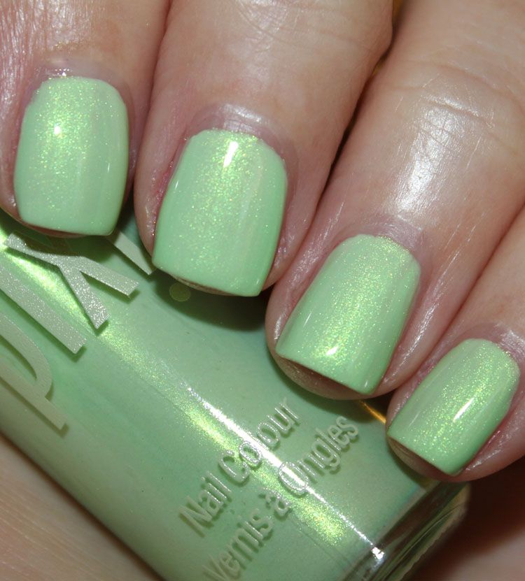 Lime Lustre is a bright lime green with strong gold shimmer ...