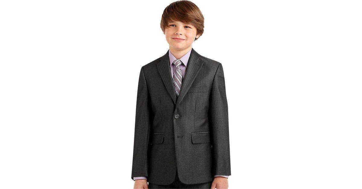 377c8fa1 Check this out! Joseph & Feiss Boys Charcoal Stripe Suit Separates ...