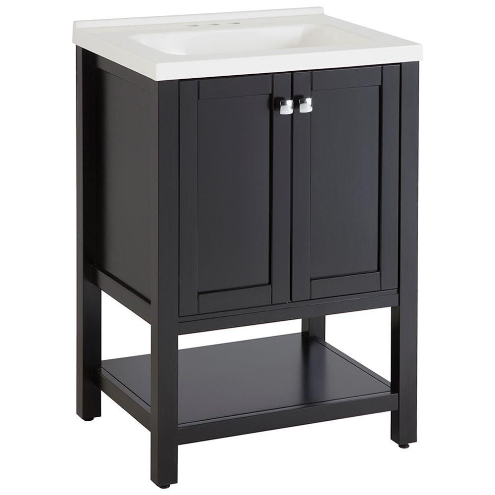 Exceptional St. Paul Sea Bright 24 1/2 In. Vanity In Black With