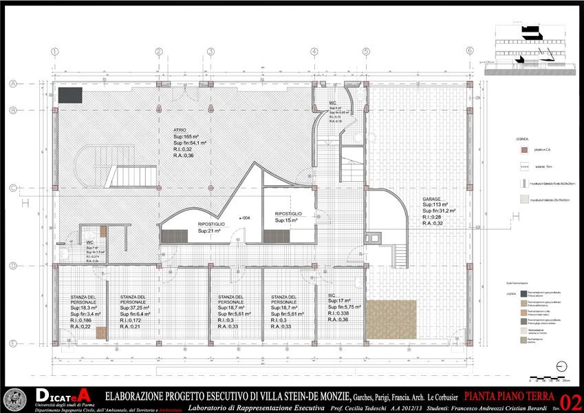 Elaboration Project, Villa Stein De Monzie, Le Corbusier - Picture - project plan