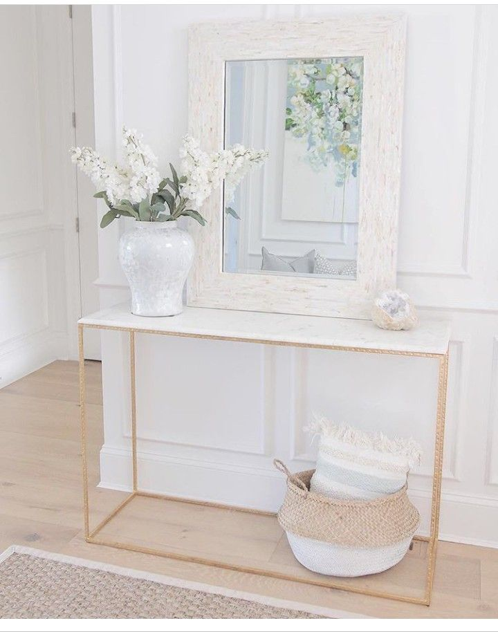 Entrance Hall White And Gold With Images Entryway Table Decor