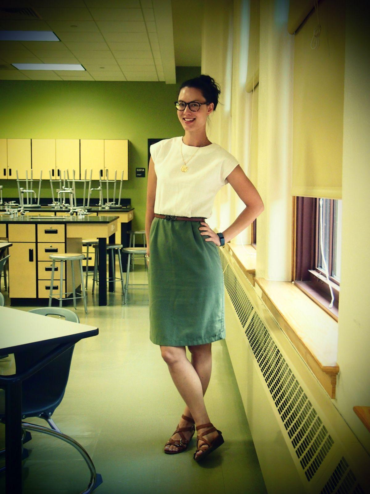 A Little Bit of WoWe : Teacher Style: Black Chiffon Dress