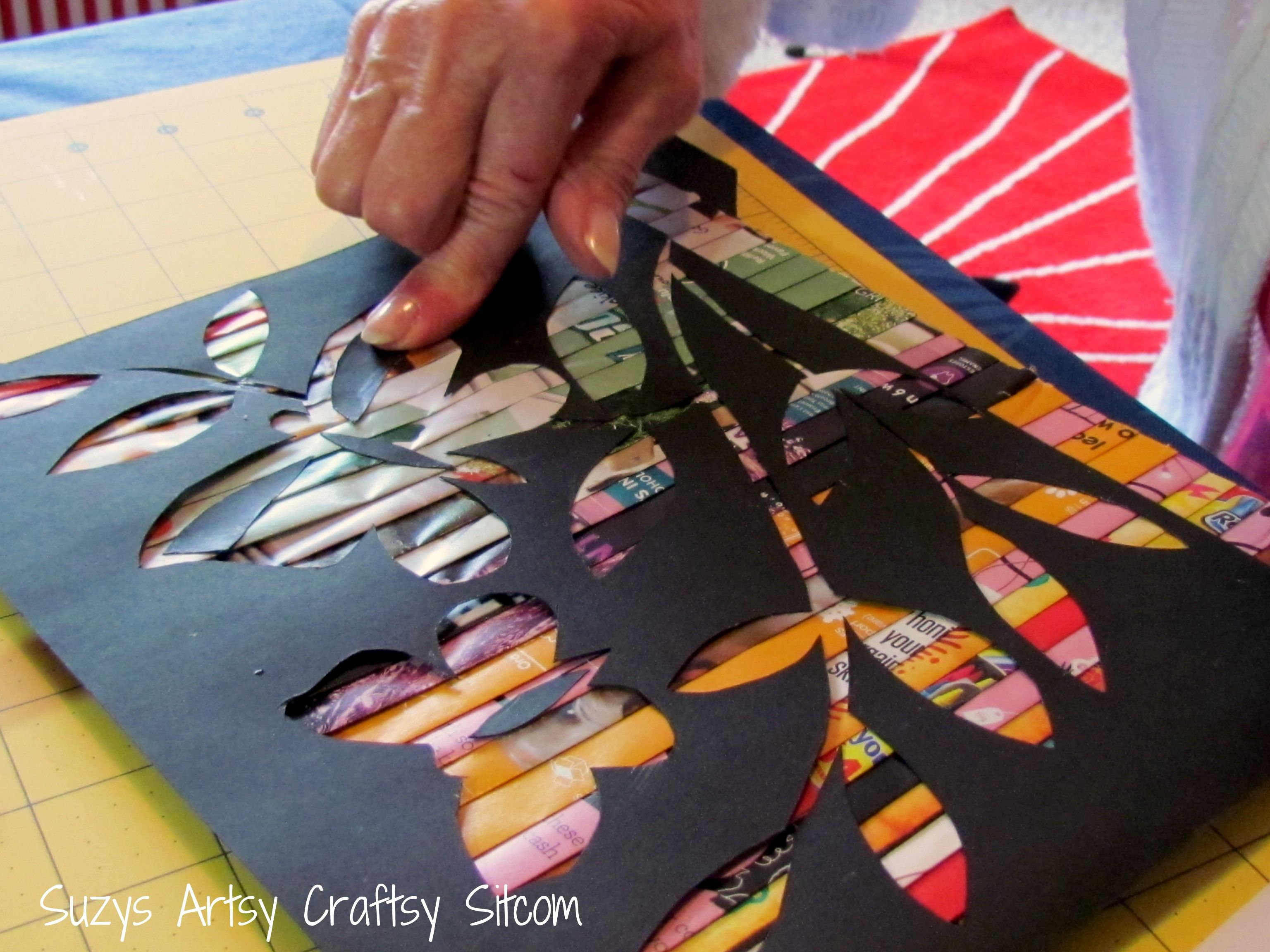 Recycled Crafts- Cut Paper Art from recycled magazines! #recycledcrafts
