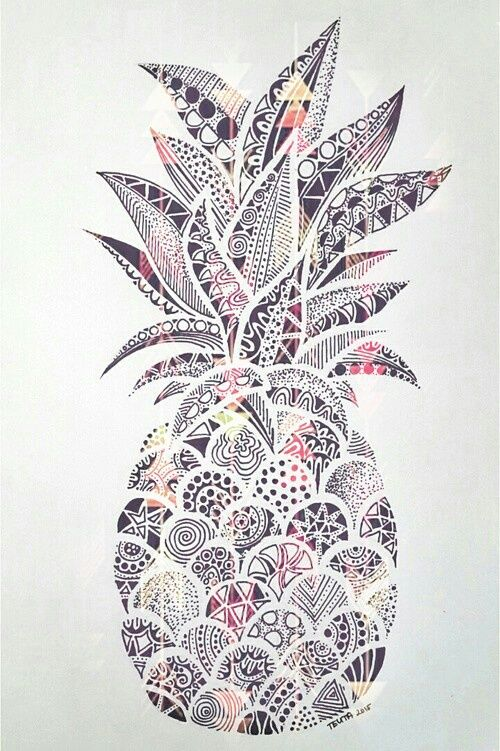 Imagen de wallpaper, ananas, and draw Wallpapers Pinterest