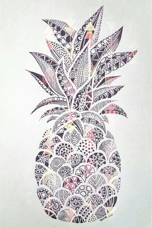 Imagen De Wallpaper Ananas And Draw Iphone Wallpaper Mandala Art Pineapple Wallpaper