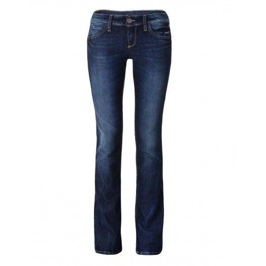 Pantalones, vaqueros con 5 bolsillos, línea Pin Up con exclusivas costuras que definen las formas. Talle acampanado.