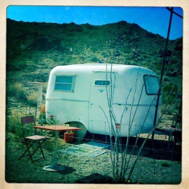 A Boler In Joshua Tree Vintage Campers Trailers