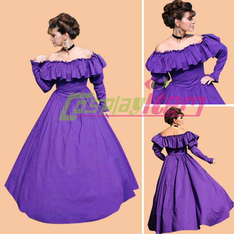 Cheap Por encargo vestido de la guerra Civil gótica Belle traje sur ...