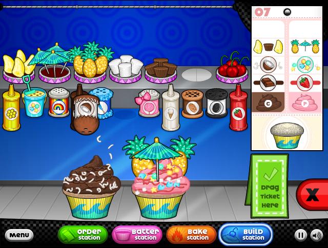 Papa's Cupcakeria Food illustrations, Papa, Swirls