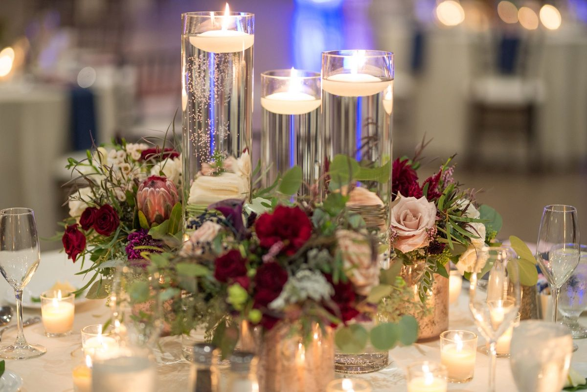 rustic glam seven springs wedding   candle wedding